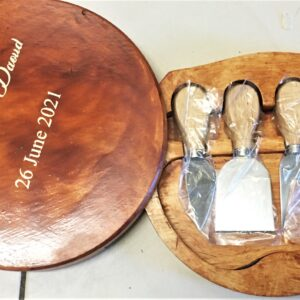 Personalised Cheese Board and Knives